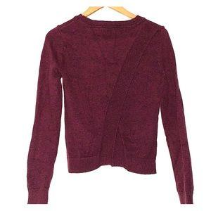 Crew Neck Burgundy sweater with split back